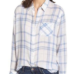 RAILS True Blue White Charli Shirt